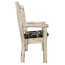 Load image into Gallery viewer, Montana Rustic Captain's Chair w. Upholstered Seat - Woodland