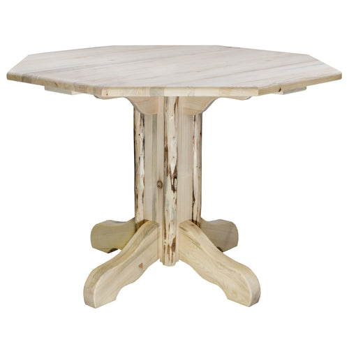Montana Center Pedestal Rustic Dining Table