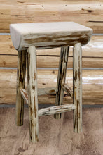 Load image into Gallery viewer, Montana Counter Height Half Log Rustic Bar Stool