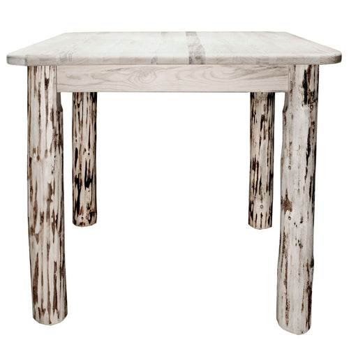 Montana Counter Height Square 4 Post Rustic Dining Table