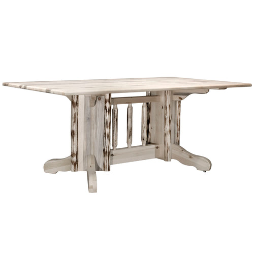 Montana Double Pedestal Rustic Dining Table