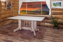 Load image into Gallery viewer, Montana Double Pedestal Rustic Dining Table