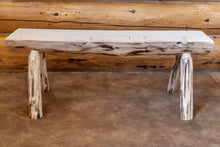 Load image into Gallery viewer, Montana Half Log Wood Dining Bench