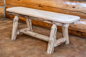 Montana Plank Style Wood Dining Bench