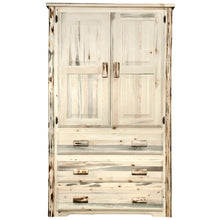 Load image into Gallery viewer, Montana Rustic Armoire Wardrobe