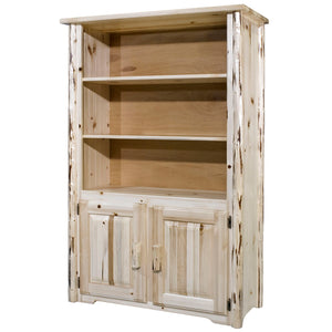 Montana Rustic Bookcase with Storage