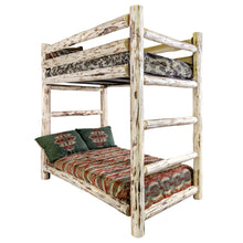 Load image into Gallery viewer, Montana Rustic Bunk Bed