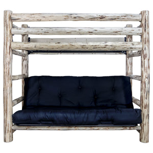 Montana Rustic Bunk Bed with Futon