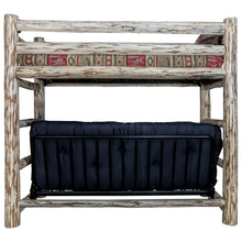 Load image into Gallery viewer, Montana Rustic Bunk Bed with Futon