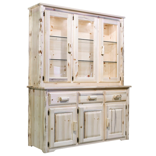 Montana Rustic China Hutch