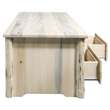 Load image into Gallery viewer, Montana Rustic Coffee Table w/ 2 Drawers