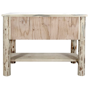 Montana Rustic Console Table w/ 2 Drawers