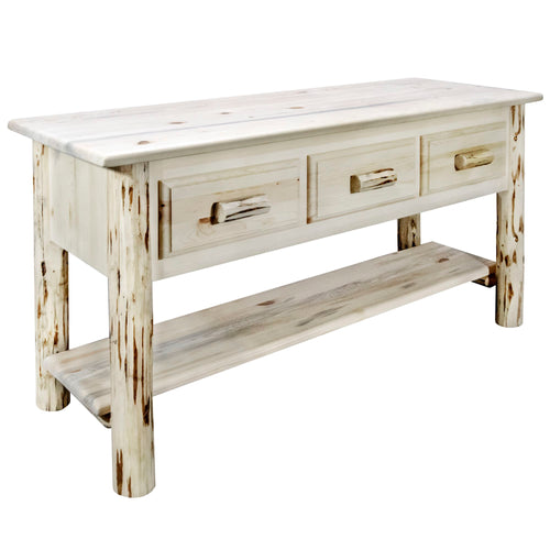 Montana Rustic Console Table w/ 3 Drawers