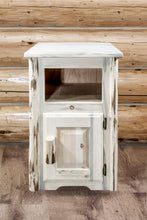 Load image into Gallery viewer, Montana Rustic End Table w/ Door Right Hinged