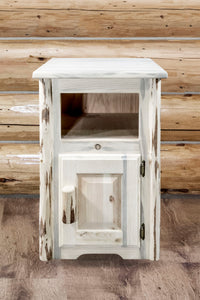 Montana Rustic End Table w/ Door Right Hinged