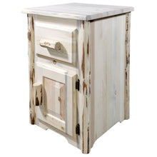 Load image into Gallery viewer, Montana Rustic End Table w/ Drawer & Door Right Hinged