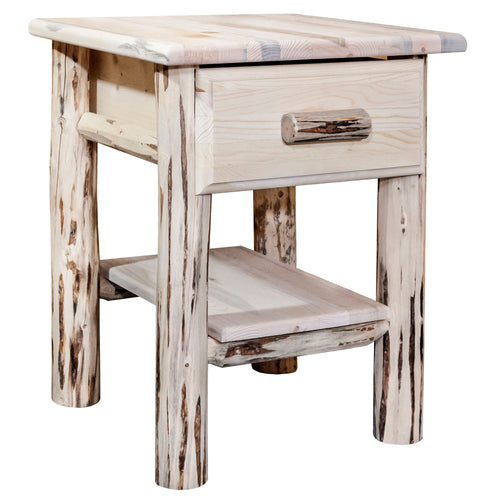 Montana Rustic Nightstand with Drawer and Shelf