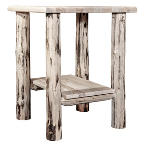 Montana Rustic Nightstand with Shelf