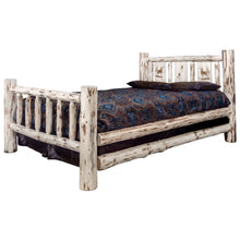 Load image into Gallery viewer, Montana Rustic Bed with Laser Engraved Design