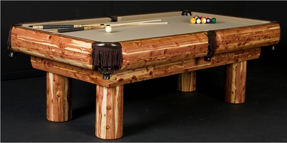 Red Cedar Rustic Pool Table