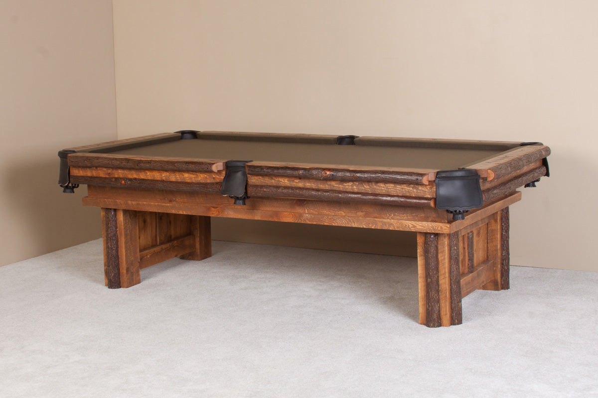 Sawtooth Hickory Rustic Pool Table