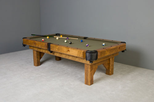 Barnwood Timber Lodge Rustic Pool Table
