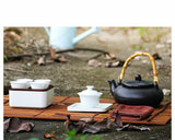 Load image into Gallery viewer, Portable Porcelain 160ml Teapot + 4x 30ml Cups Set for Vehicle & Travel