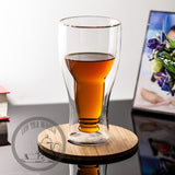 Load image into Gallery viewer, 300ml Heat Resisted Double Wall Clear Glass Tea Cup Beverage Juice Beer Mug