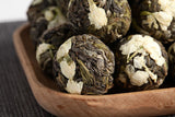 Load image into Gallery viewer, Certified Globular Craft Raw Puer + Jasmine Blossom Flower Herbal Blooming Tea