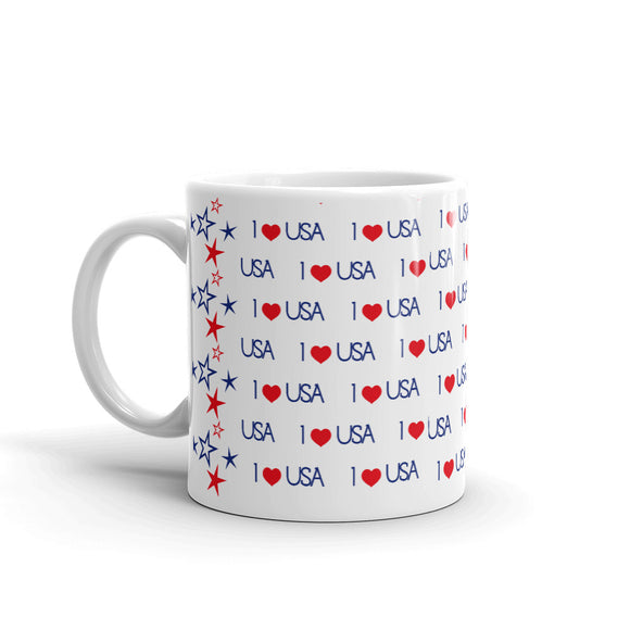 I LOVE AMERICA COFFEE MUG