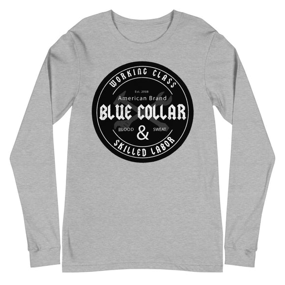 Grey BLk - Blue Collar - Unisex Long Sleeve Tee