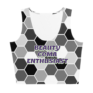 "Women's ""Beauty Coma Enthusiast"" Crop Top"