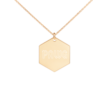Load image into Gallery viewer, PAWG Silver Hexagon Necklace