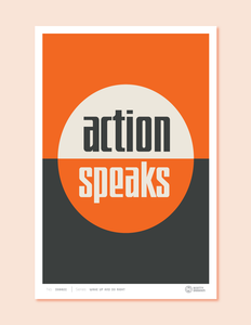 action speaks orange
