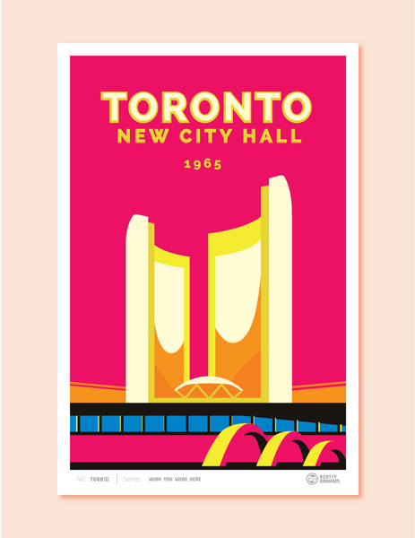 toronto city hall in pink