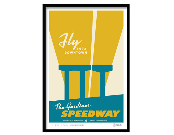 fly into downtown on the gardiner speedway
