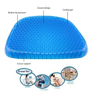 0219 Cushion Seat Flex Pillow, Gel Orthopedic Seat Cushion Pad (Egg Sitter) - mstechindia.com