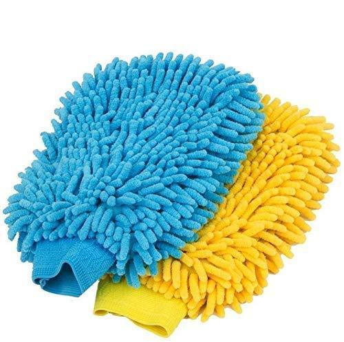 0711 double sided microfiber hand glove duster