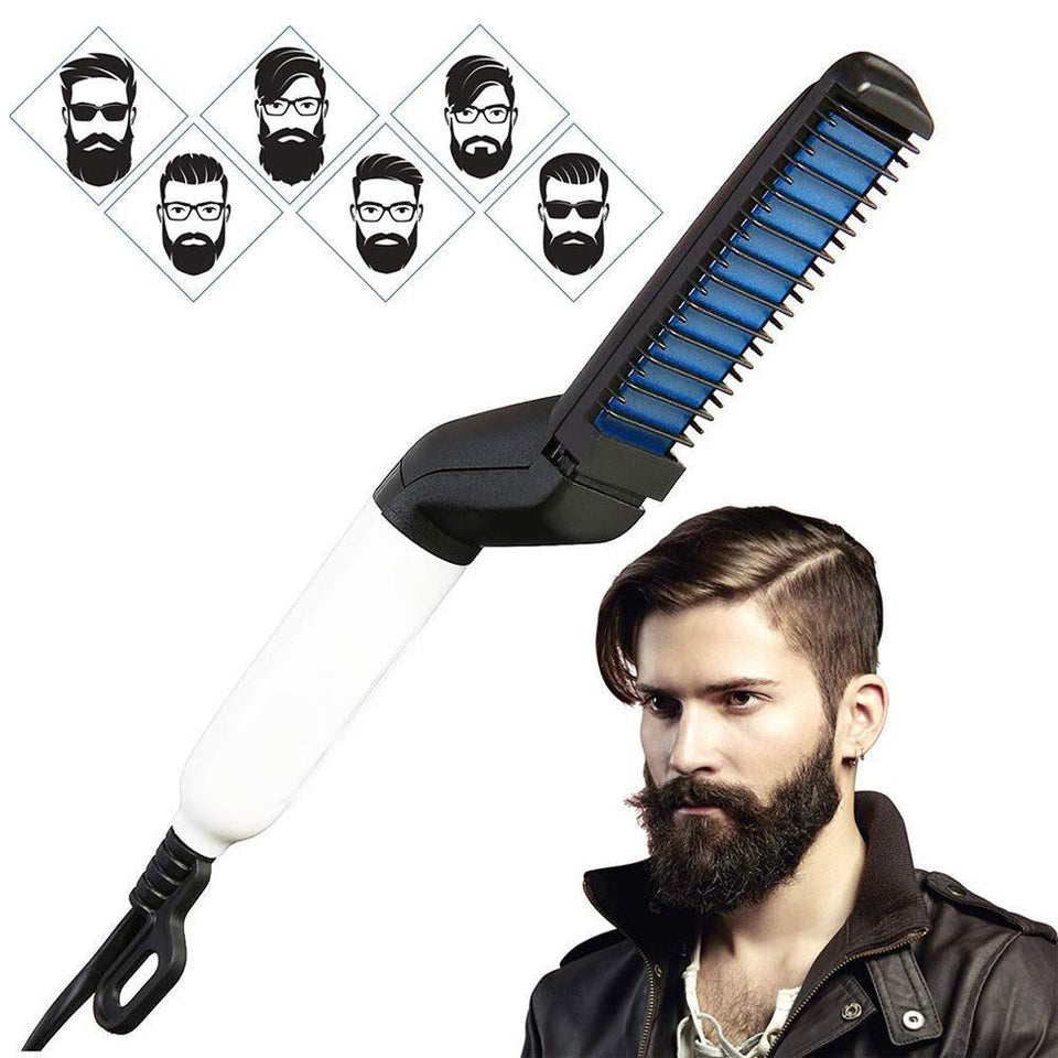 0348 Men's Beard and Hair Curling Straightener (Modelling Comb) - mstechindia.com