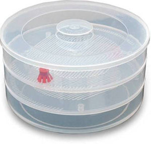 0093 Plastic 3 Compartment Sprout Maker, White - mstechindia.com