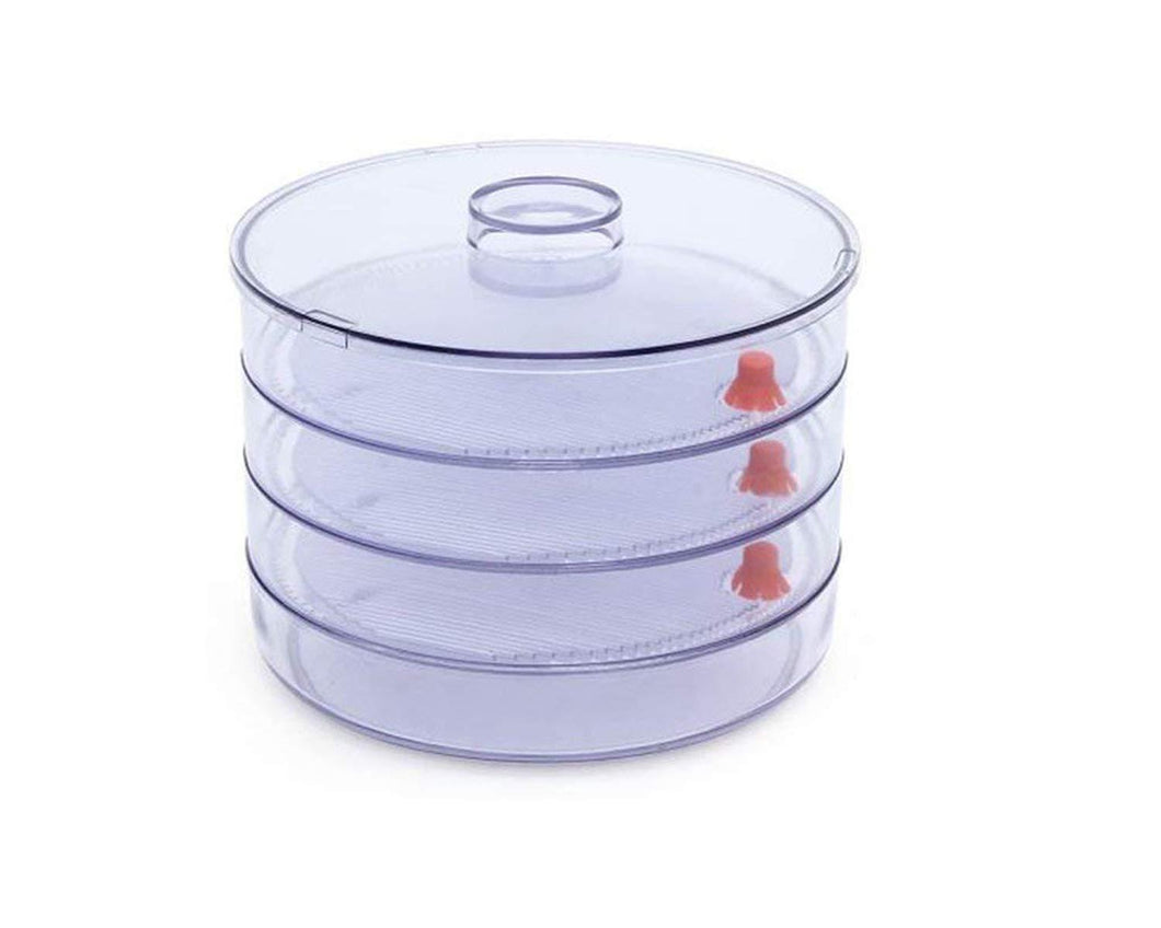 0070 Plastic 4 Compartment Sprout Maker, White - mstechindia.com