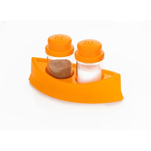 0148 Plastic Salt & Pepper Shakers/Masala Dabbi with Stand/Salt and Pepper Set for Dining Table - mstechindia.com