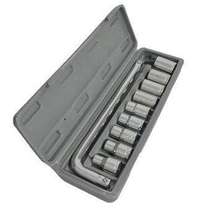 0407 -10 pc, 6 pt. 3/8 in. Drive Standard Socket Wrench Set