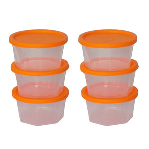 0171 Plastic Container Set, 200ml, Set of 6 - mstechindia.com