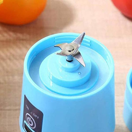 0131 Portable USB Electric Juicer - 4 Blades (Protein Shaker) - mstechindia.com