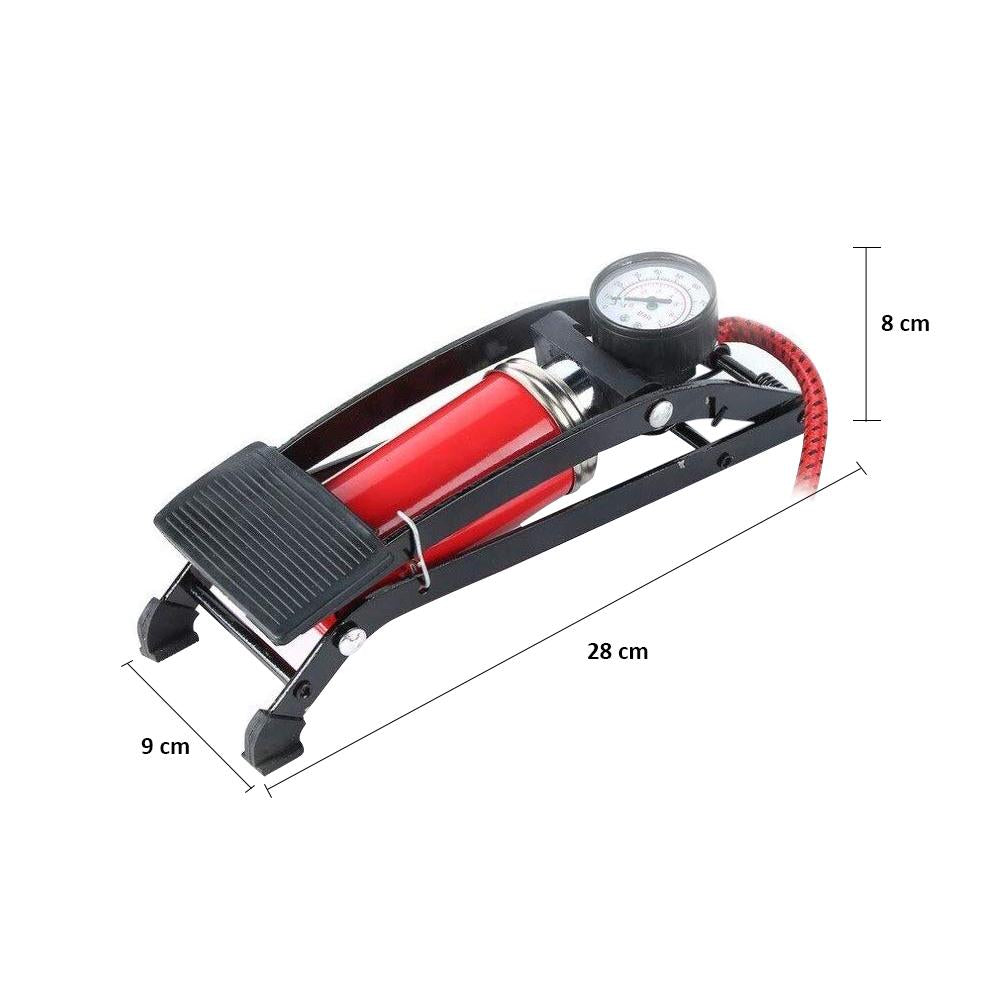 High Pressure Deluxe/Strong Foot Pump For Bicycle, Car, Bike