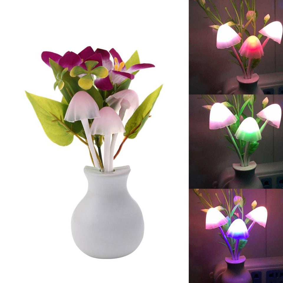 0217 LED Dream Night Light, Auto ON/Off Sensor Mushroom Lamp (Multicolor) - mstechindia.com
