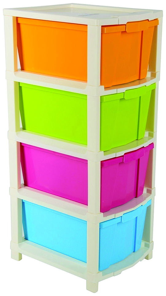 0768 Multipurpose Modular Drawer Organizer Storage Box - 4 Layers