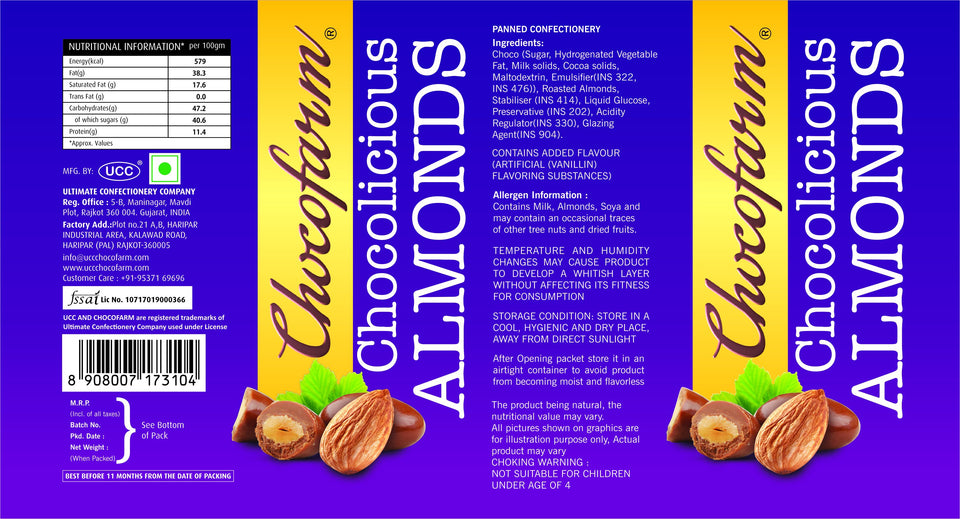 0041 Chocolate almonds (96 GMs) - mstechindia.com