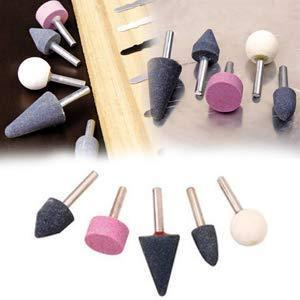 0412 -5 Pcs Shank Abrasive Mounted Stone (Multicolour) - mstechindia.com
